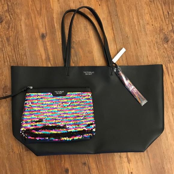 917f110031 Victoria s Secret Black Friday tote and sequin bag